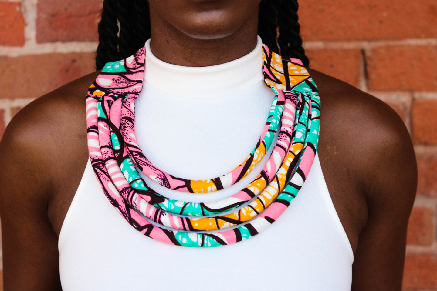 African Print Jewelry, Ankara Necklace, DIY Necklace