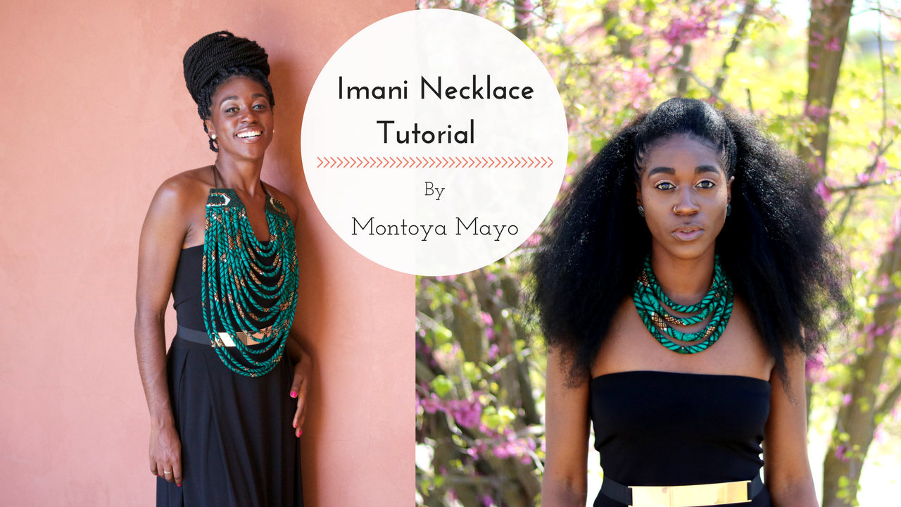 African Necklace, African Necklace, African Print Fabric Necklace, Ankara Necklace, Nigerian Fashion, DIY Necklace, Sewing for Beginners