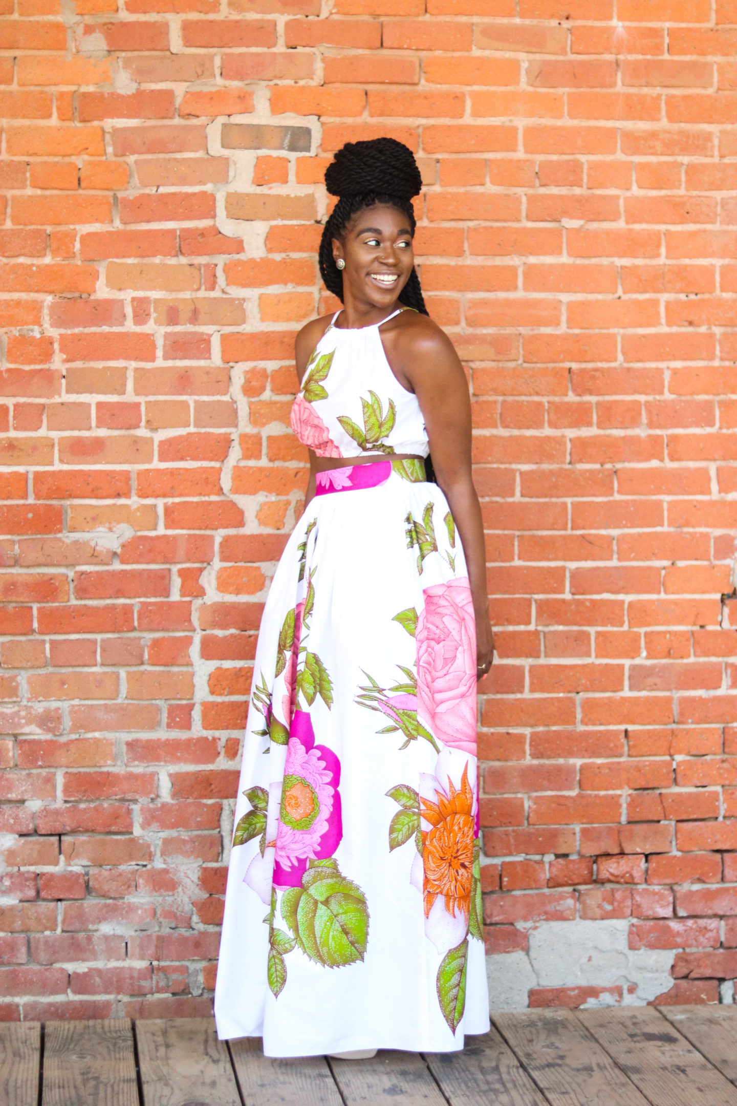 DIY Crop Top Tutorial, African Print Fashion, Simplicity 1112, Gathered Maxi Skirt, African Print Skirt, African Print Top, Nigerian Fashion, Ghanian Fashion, Kitenge, African Prints, African Wedding