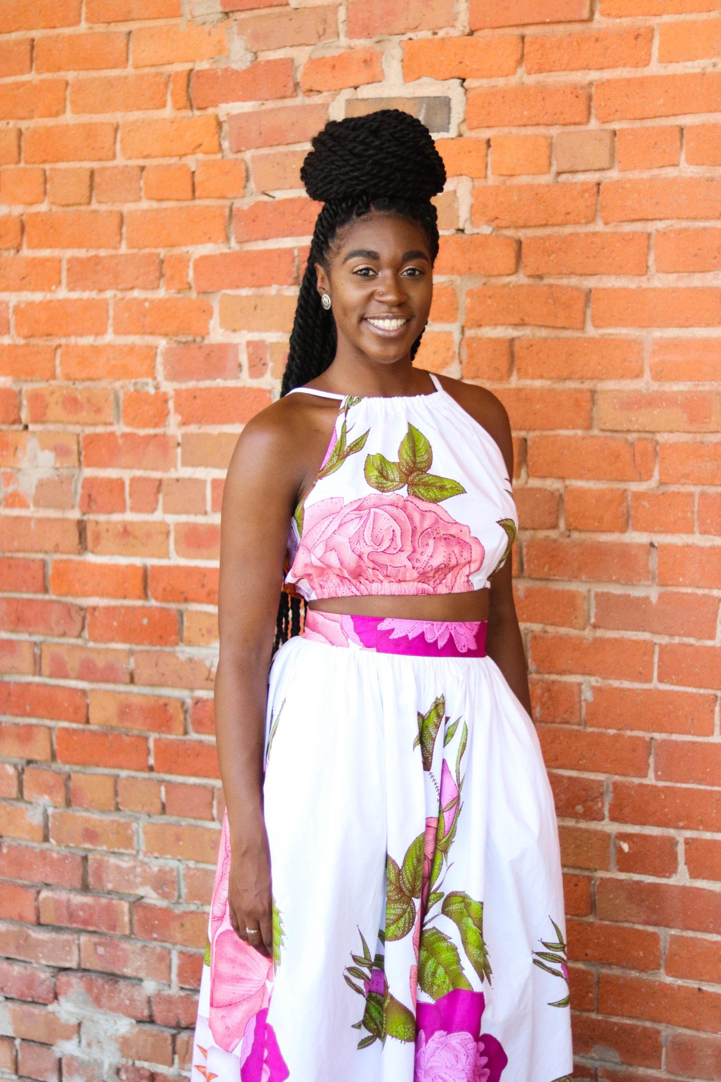 DIY Crop Top Tutorial, African Print Fashion, Simplicity 1112, Gathered Maxi Skirt, African Print Skirt, African Print Top, Nigerian Fashion, Ghanian Fashion, Kitenge, African Prints, African Wedding