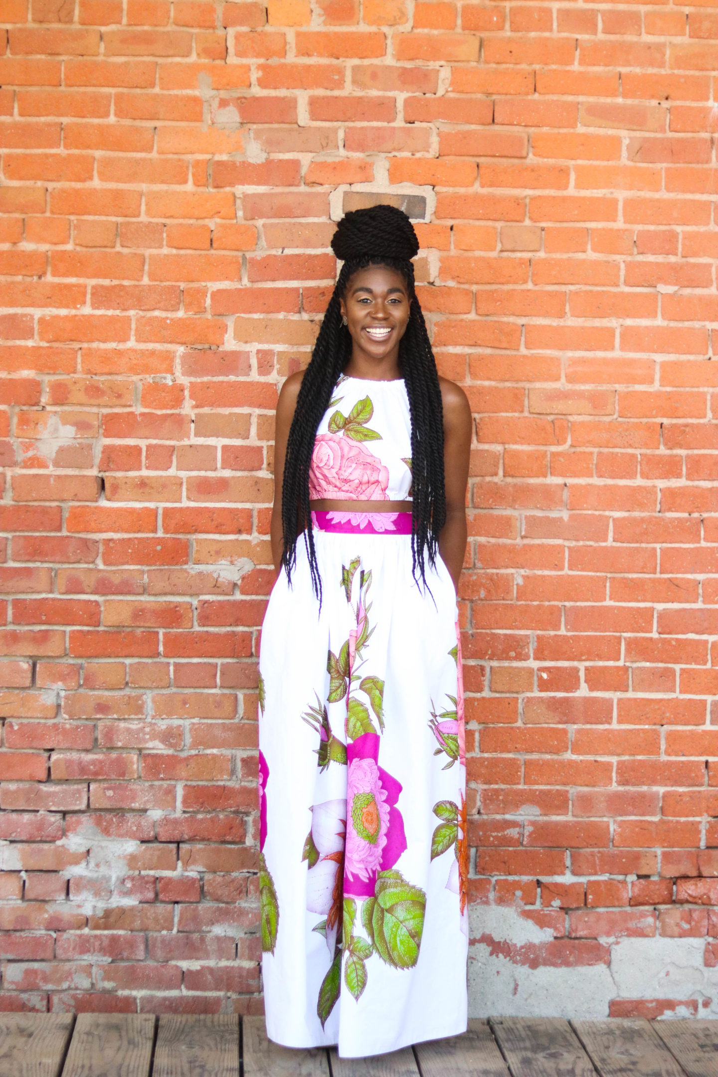 Diy Halter Crop Top And Gathered Maxi Skirt Tutorial