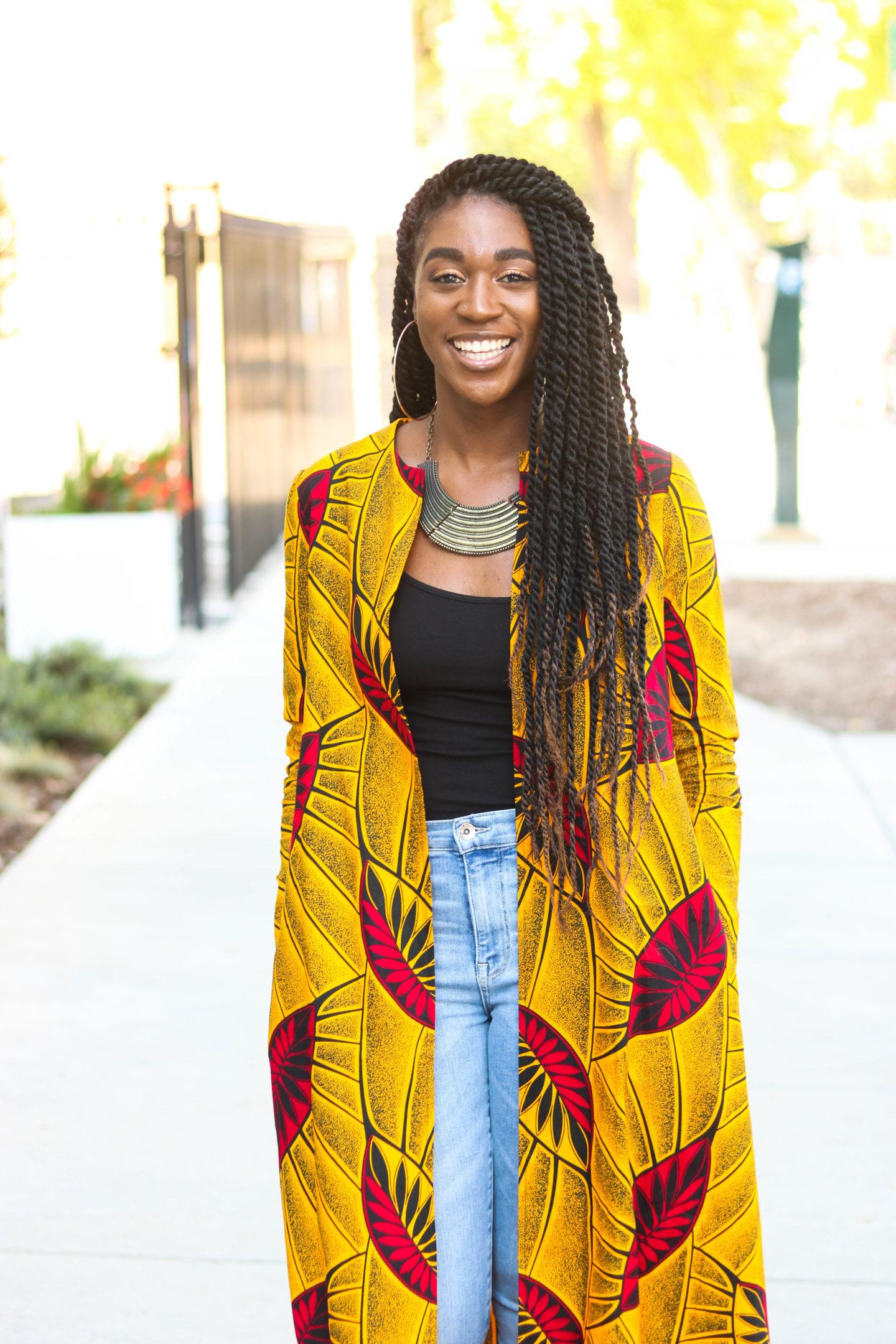 African Print Duster, African Print Cardigan, DIY Duster, DIY Coat, DIY Jacket, African Print Fashion, Long Cardigan, Fall Fashion, Ankara Fashion, Ankara Coat, Ankara Duster