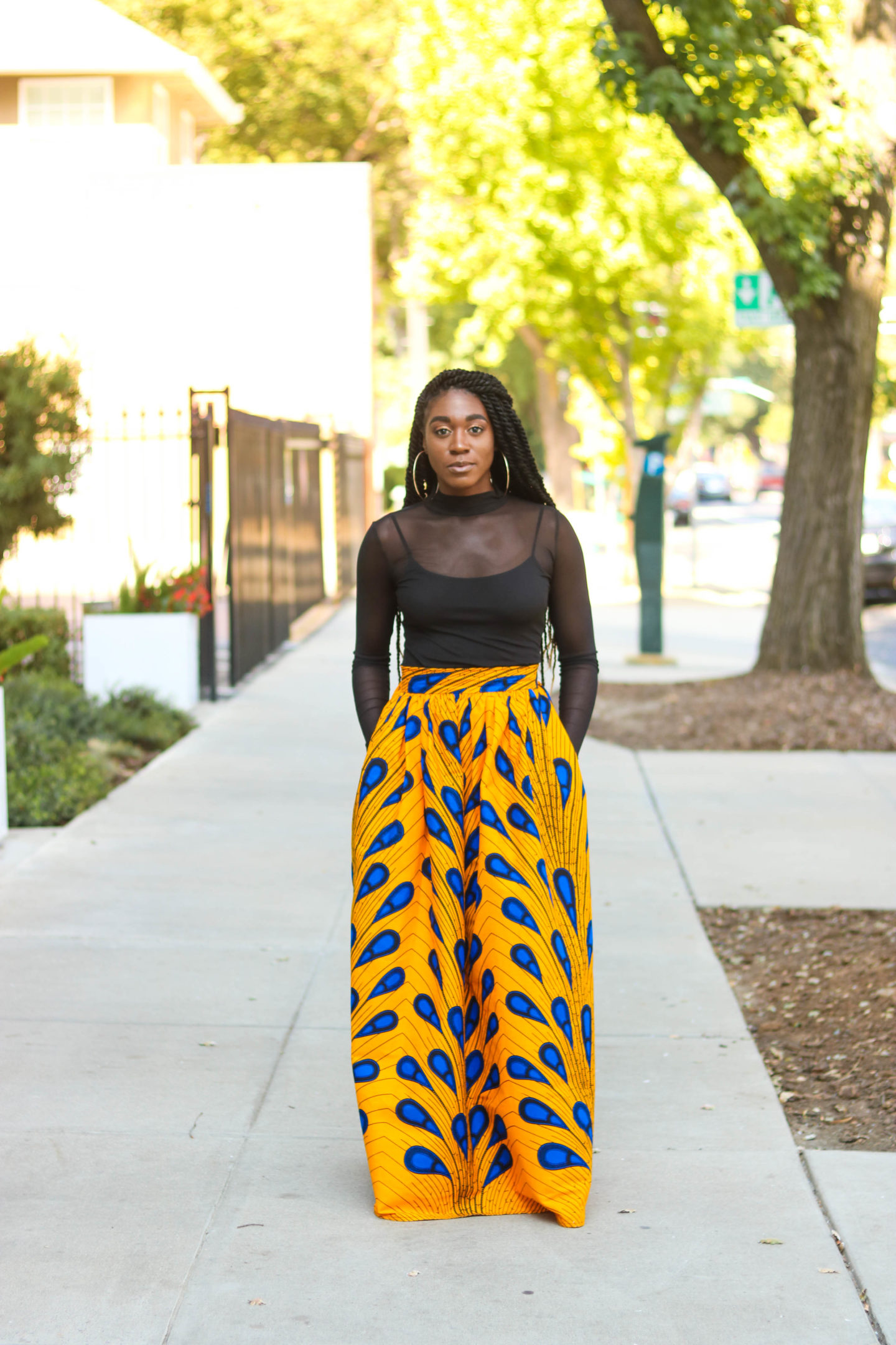 DIY | How To Sew Ankara African Print Gathered Maxi Skirt Tutorial (McCall's 7355)