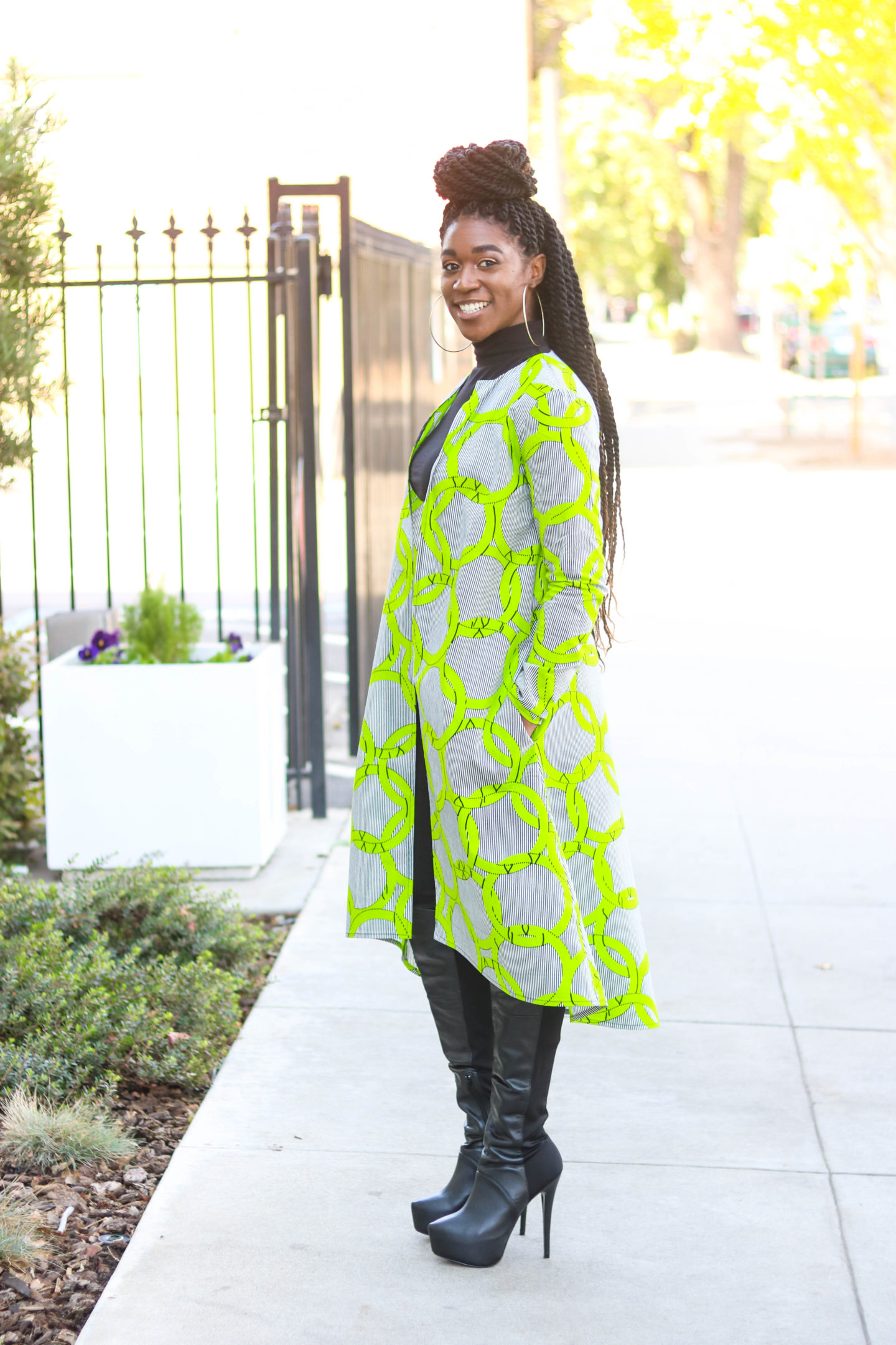 New Look 6514, DIY Duster, African Print Duster, Coat, Long Coat, Duster with pockets, sewing tutorials, African Fashion, African Print Fashion, DIY Fashion, Sewing tutorials for beginners, High-Low Duster