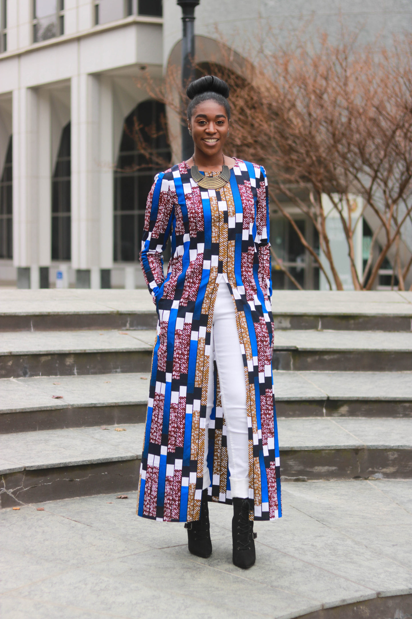 DIY Ankara African Wax Print Front Slit Maxi Shirt Tutorial, How to sew a shirt, Sewing Pattern Hacks, Long Shirt, African Fashion, Ankara Fashion, African Print Fashion, Nigerian Weddings, Nigerian Fashion, Ghanaian Fashion, Kitenge