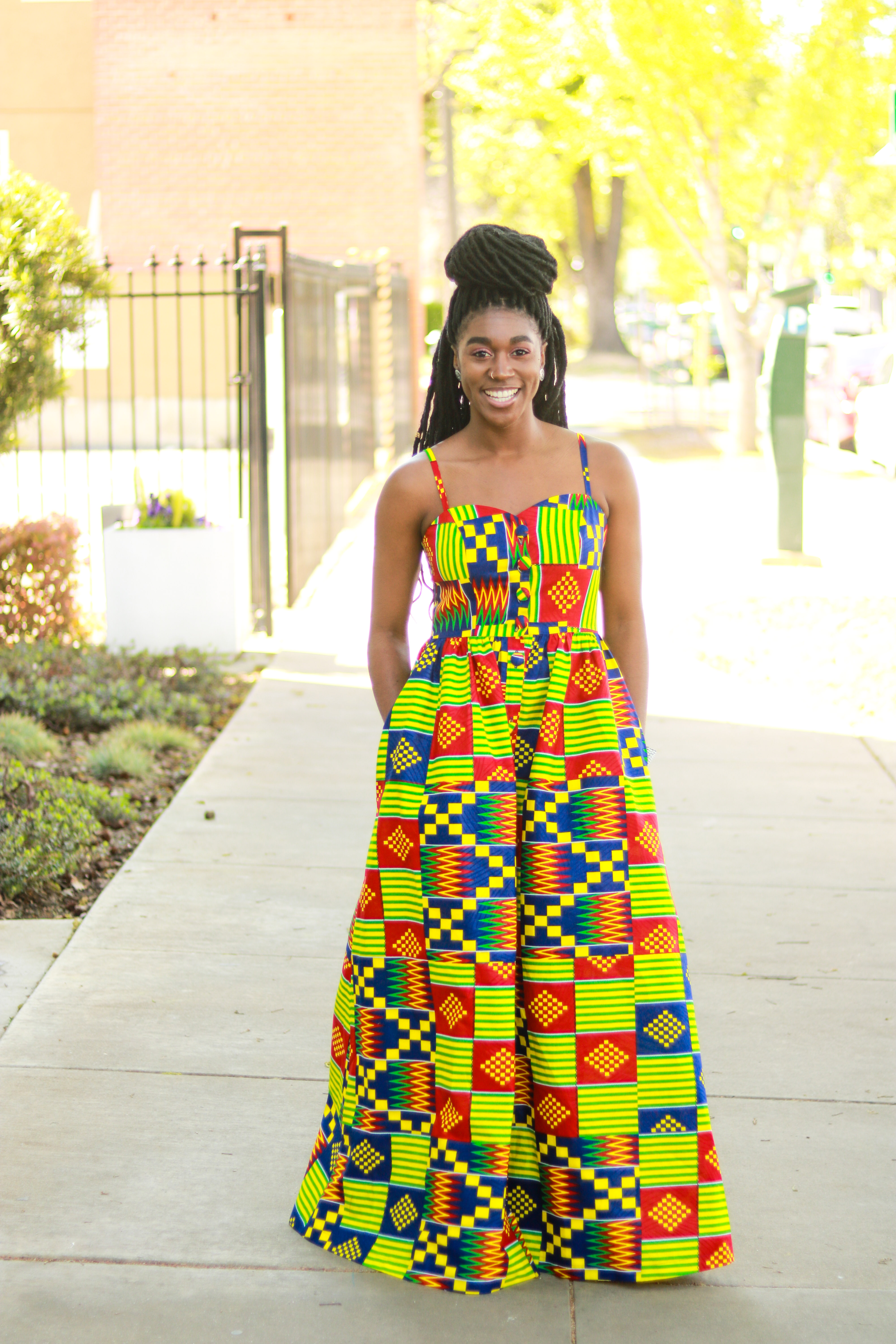 Maxi Dress with Pockets Pattern