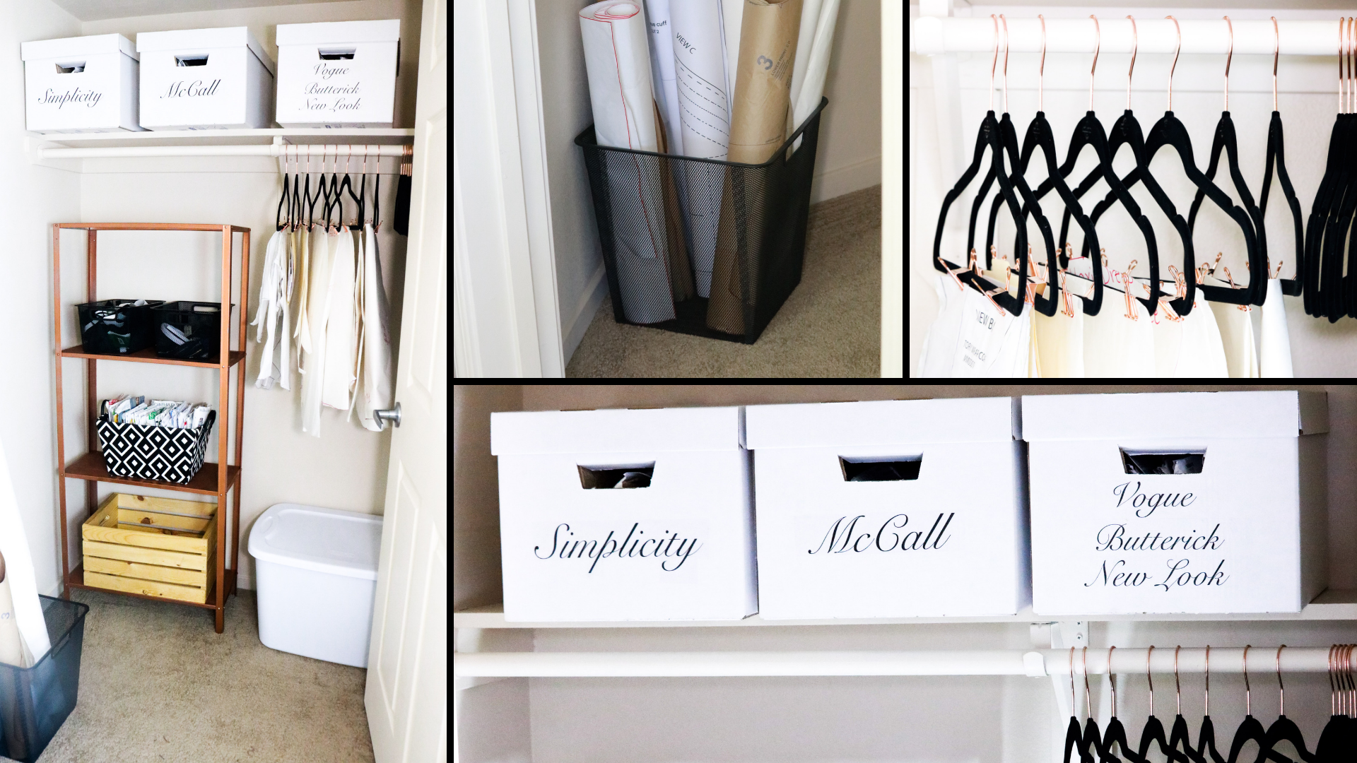 Sewing Room Closet Makeover Transformation and Pattern Organization ...