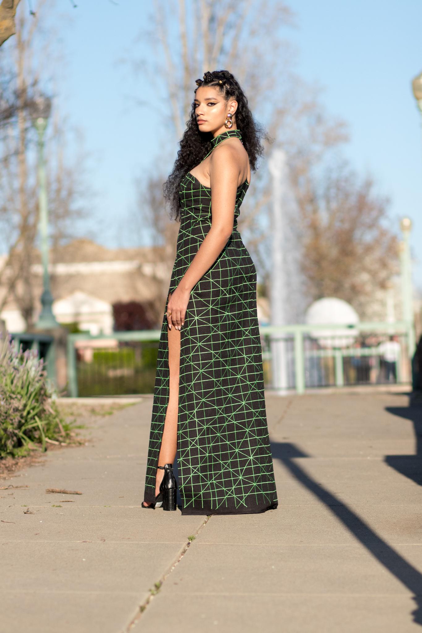 6832d0437952 DIY Black Panther Inspired Prom Dress Wakanda Nakia Casino Lupita Front  Slit Maxi -1 ...